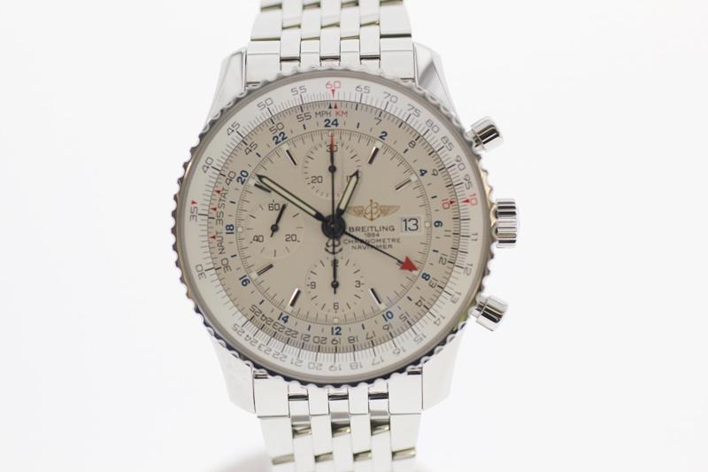 【中古】BREITLING ブライトリング ナビタイマー クロノグラフ A24322 白文字盤 自動巻き USED-A メンズ 腕時計  m19-1200303925800013