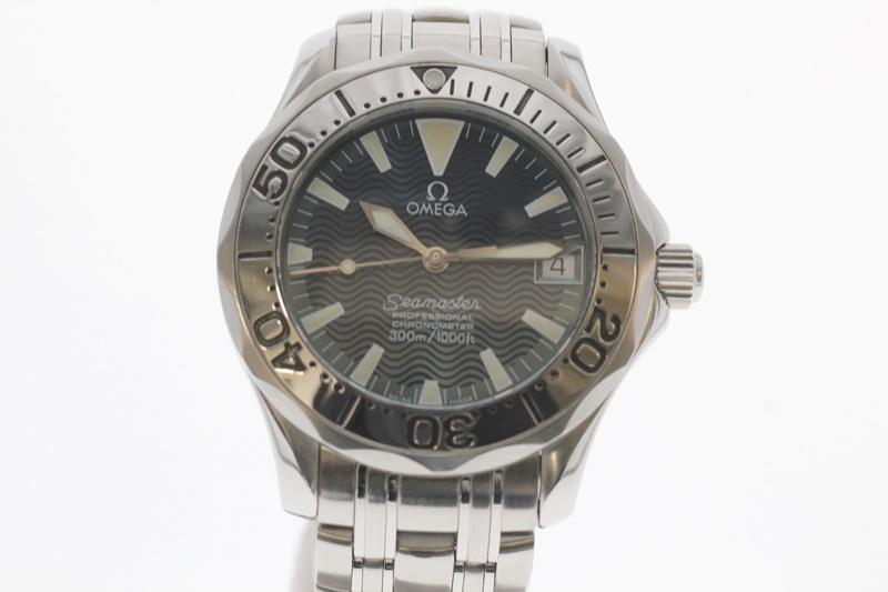 【中古】OMEGA オメガ シーマスター オートマチック 2554.80 青文字盤 自動巻き USED-A レディース 腕時計 m19-1200300925800027