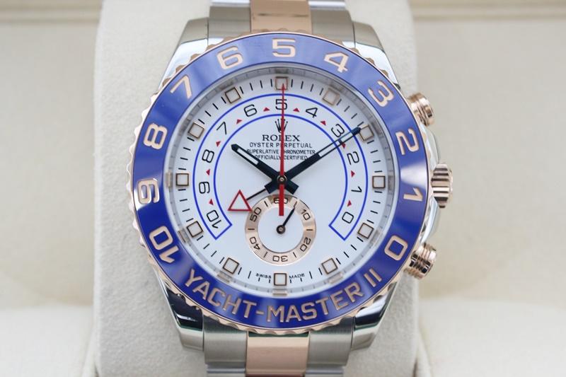 【中古】ROLEX ロレックス ヨットマスター2 コンビ 116681 白文字盤 自動巻き USED-SA メンズ 腕時計 m19-1200299925800049
