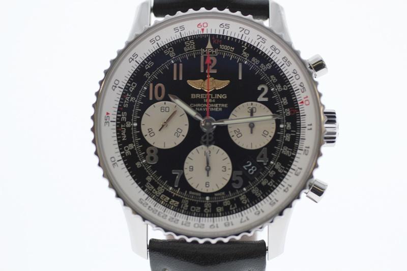 【中古】BREITLING ブライトリング ナビタイマー クロノグラフ AB0120 黒文字盤 自動巻き USED-A メンズ 腕時計  m19-1200303925800009