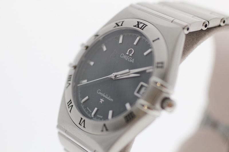 【中古】OMEGA オメガ コンステレーション 黒文字盤 クオーツ USED-B メンズ 腕時計 m19-1200300925800028