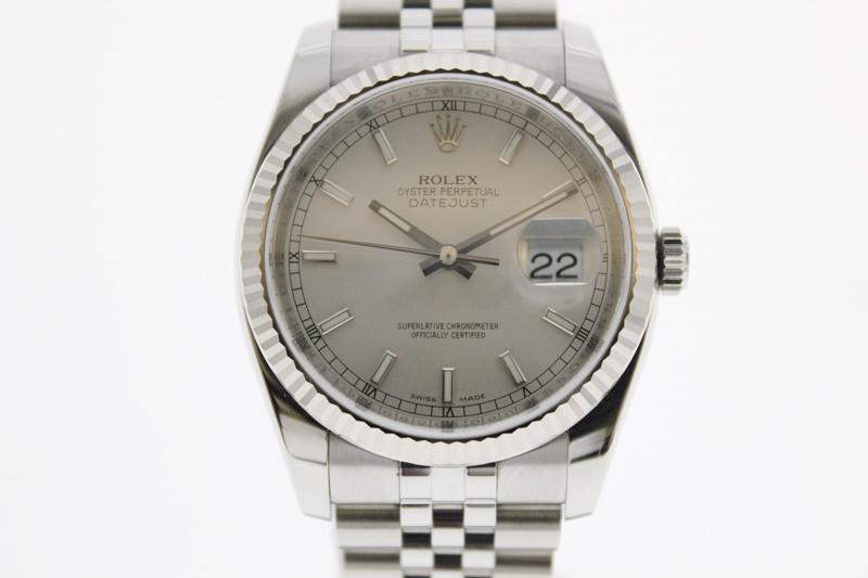 【中古】ROLEX デイトジャスト 116234 ランダム番 シルバー文字盤  自動巻き USED-SA メンズ 腕時計  m19-1200299925800082