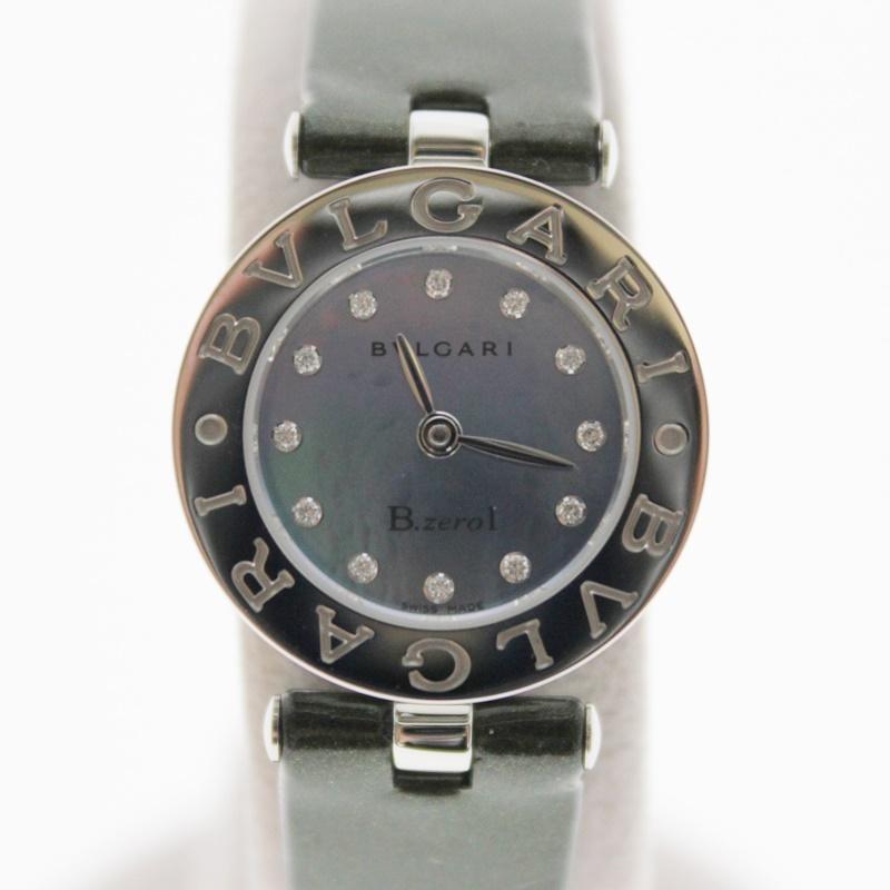 【中古】BVLGARI B-ZERO1 ビーゼロワン ウオッチ 12Pダイヤ クオーツ シェル文字盤 USED-A レディース 腕時計 m20-1200298925800009