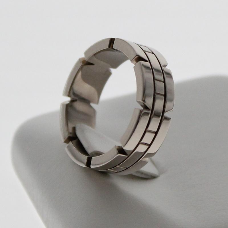 【中古】Cartier カルティエ タンクフランセーズリング K18WG 750表記 約9号/49 ブランド アクセサリー 指輪 USED-A m19-1200285925800023