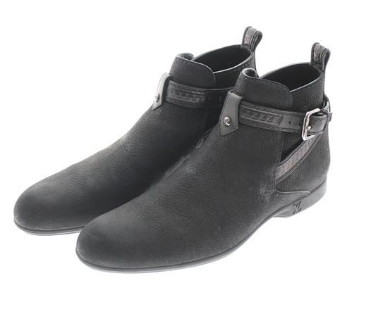 ルイヴィトン ジョッパー ショート ブーツ シボ ヌバック レザー 革靴 ブラック サイズ 6 日本サイズ 25.0cm USED-SA FD0131 メンズ m19-1200185925800016【かんてい局前橋店】【中古】LOUIS VUITTON