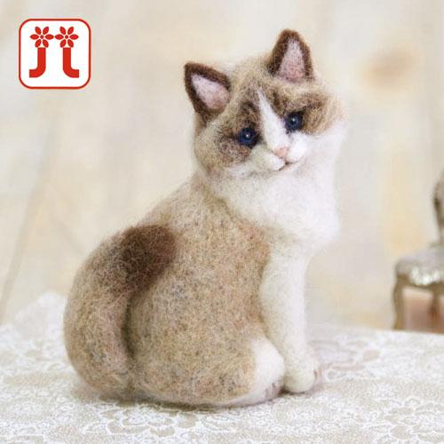 リアルな動物の羊毛キット ハマナカ きりのみりい ラグドール リアル羊毛フェルトキット 祝日 大規模セール