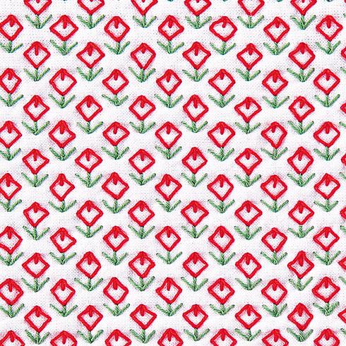 日本の伝統刺繍 大人気! 正規店 オリムパス 刺し子キット お花畑 一目刺しの花ふきん