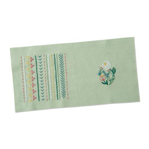 フランス刺繍キット オリムパス GARDEN 送料無料新品 PARTY はじめてのフランス刺しゅう ガーデンパーティ キット レッスンクロスレベル1 新色追加して再販