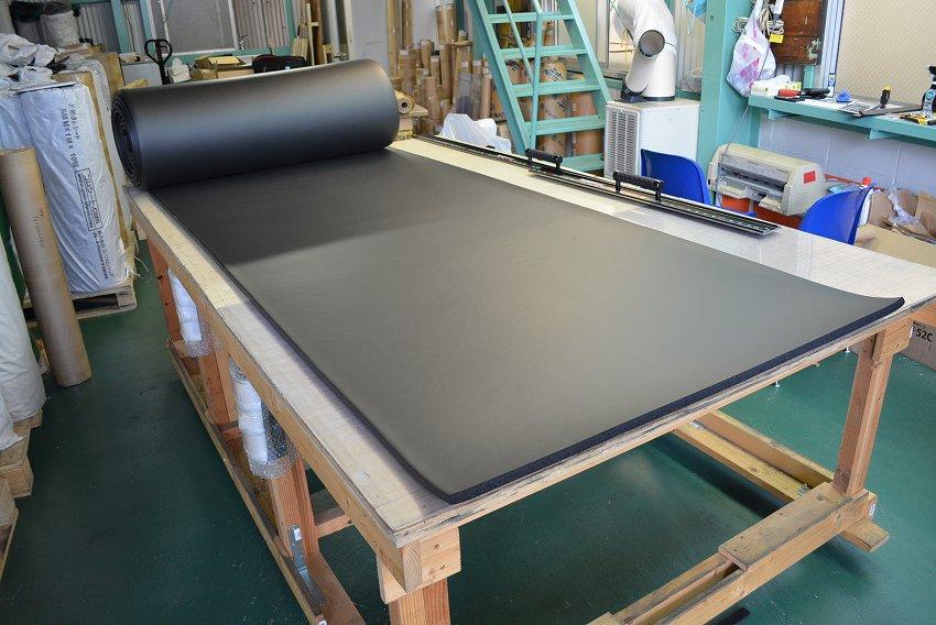 正式的 工具ジェイピー 10cm単位の切売り可能!【工場直売】使い勝手のよいクッションスポンジ(スポンジシート・マット)厚さ15ミリ×幅1M×長さ9.2M:ゴムシート切売り-DIY・工具
