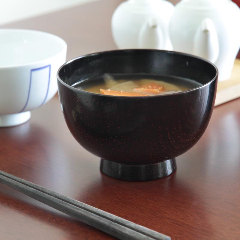 喜八工房 欅 ロングライフ汁椀 木製 汁椀 お椀 山中漆器 日本製 モダン