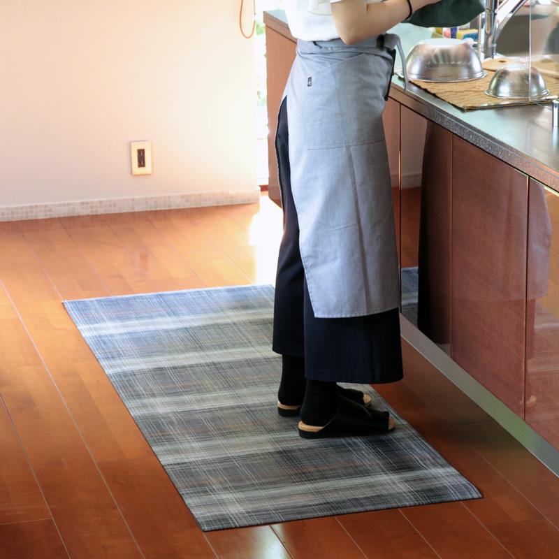 チルウィッチ キッチンマット Woven Plaid 66×183cm Grey