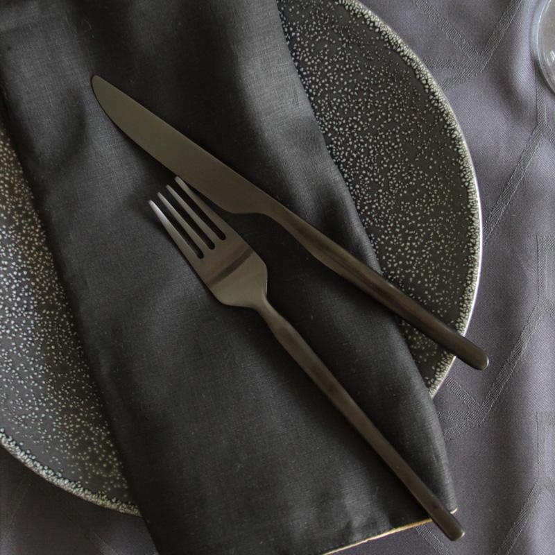 ゲンセ ドロテアナイト テーブルナイフ&フォーク 4本セット (ナイフ2本 フォーク2本)