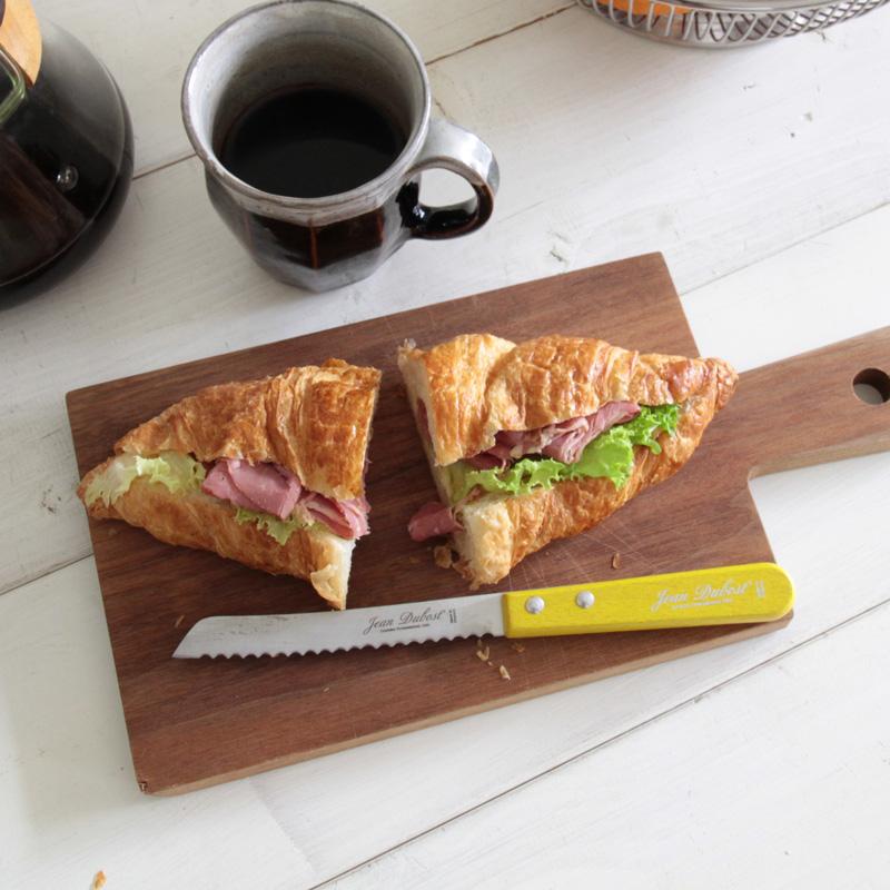 Jean Dubost フランス製 定番の人気シリーズPOINT(ポイント)入荷 イエロー レッド 送料無料 新品 ブラック ジャンデュボ ウッドハンドル ミニブレッドナイフ