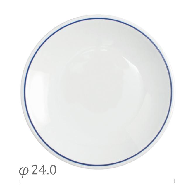 サタルニア ローマブルーライン ディナープレート 24cm 6枚セット