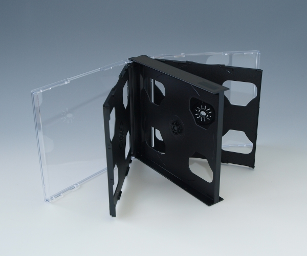 CD6枚用マルチケース 黒 100個 6枚収納CDケース Pケース