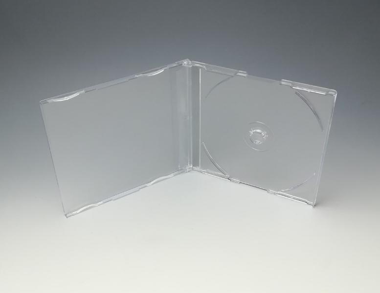 一般的なマキシシングルケースCDケースの厚さ7mmタイプで3本爪 ロゴなし CDマキシケース3CR 300個 格安 価格 交渉 送料無料 3本爪タイプ