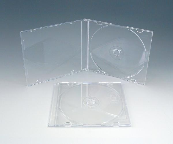 コンパクトな厚さ5ミリの収納ケースまとめ買いがお得な100枚梱包値下げ致しました CDスーパースリムケース 情熱セール 当店限定販売 オールクリア 100個
