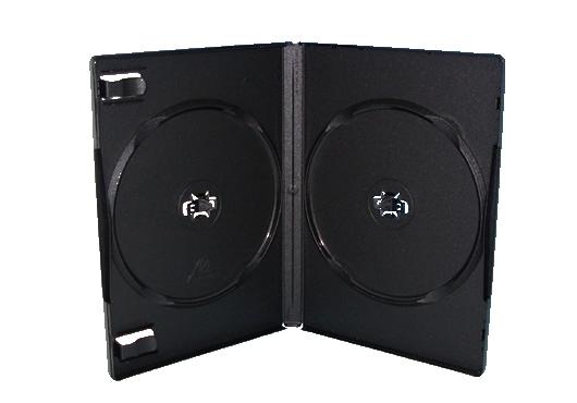 ラッピング無料 店内限界値引き中 セルフラッピング無料 ロゴなしのため CD DVD兼用可能高品質なMロックケースは非常に人気です お買い得なカートン販売100枚入 黒 2枚用 アマレーサイズ Mロックケース