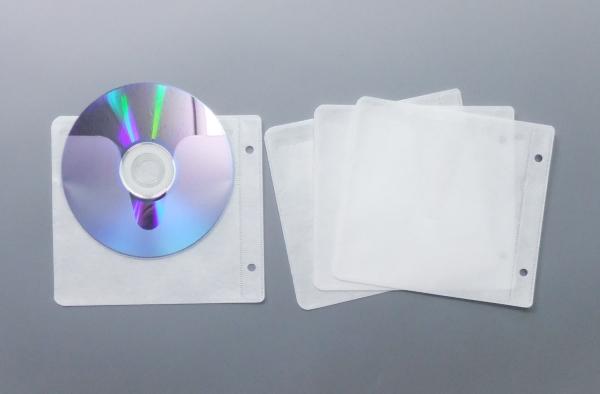 ブルーレイディスク対応 2穴不織布ケース 2400枚(ブルーレイ用)(ブルーレイディスク用)