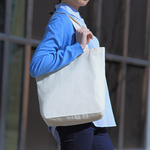 薄手コットンバッグ マチ付き 200枚 1枚120円無地・名入れプリント可能(トート・エコ)