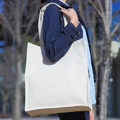 キャンバスショルダーバッグ 100枚 1枚532円→498円無地・名入れプリント可能(トート・エコ)