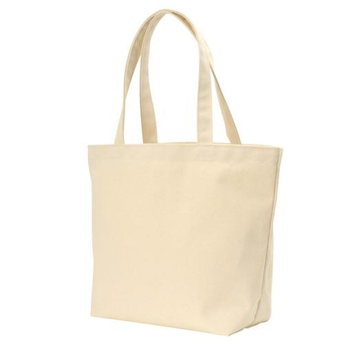 キャンバストートバッグ(横型/L) ナチュラル  50枚 1枚302円無地・名入れプリント可能(コットン・エコ)