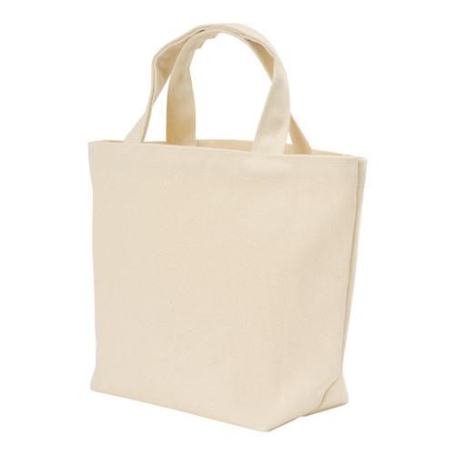 キャンバストートバッグ(横型/M) ナチュラル  100枚 1枚@185円無地・名入れプリント可能(コットン・エコバッグ)