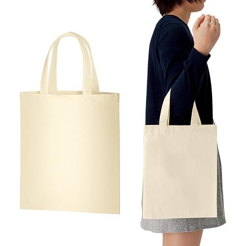 ライトキャンバスバッグ Mサイズ(マチなし) 100枚 1枚181円無地・名入れプリント可能(トート・エコ)