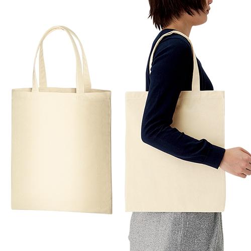 ライトキャンバスバッグ Lサイズ(マチなし) 100枚 1枚205円 無地・名入れプリント可能(トート・エコ)