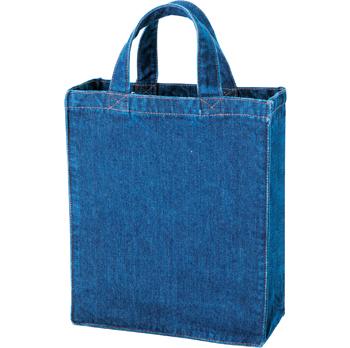 デニム カレッジトートバッグ Mサイズ ブルー 50枚 1枚478円無地・名入れプリント可能(トート・エコ)