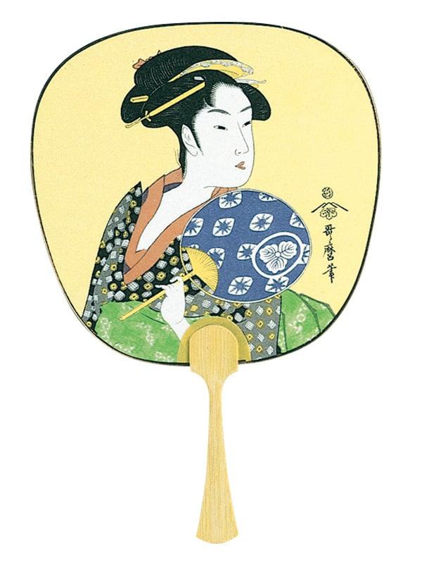 日本画うちわ 中型 100部 22種類