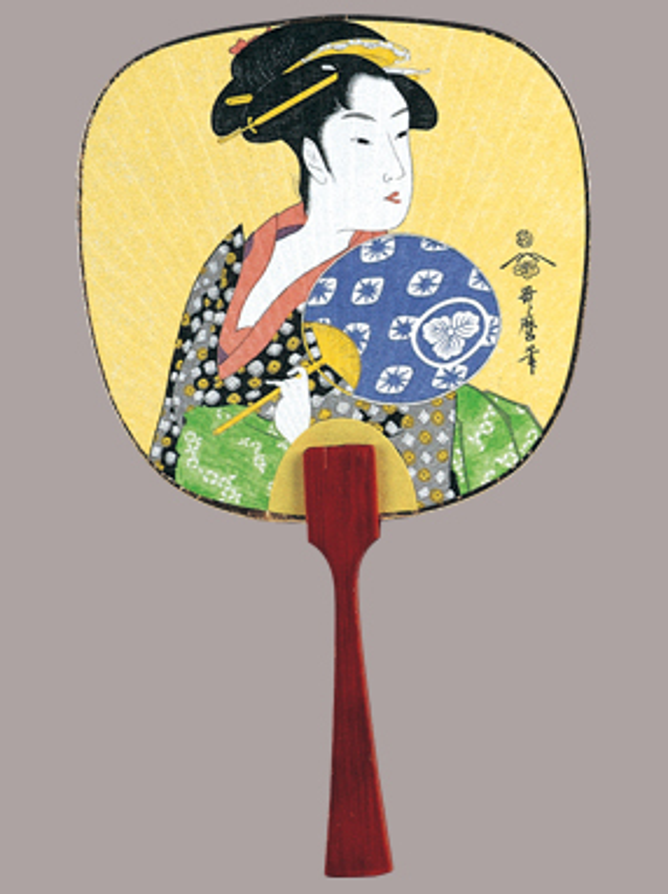 日本画 豆うちわ 100部 16種類