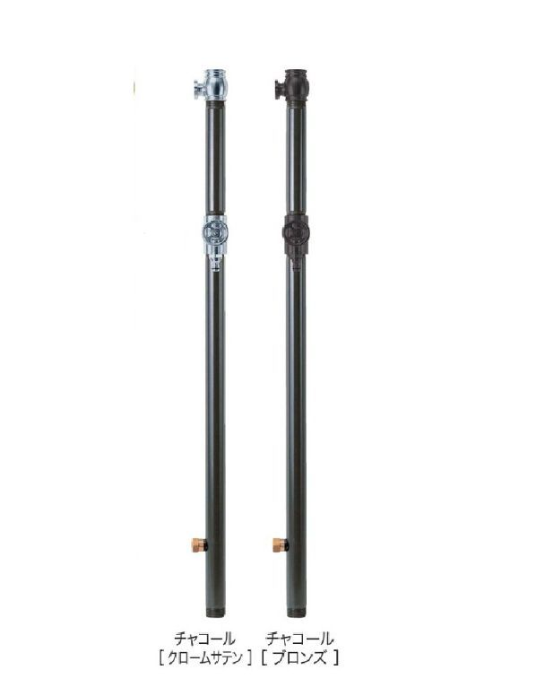 送料無料 水栓柱(双口)<チャコール(クロームサテン・ブロンズ)>, ZeeShop:9789a135 --- dibranet.com