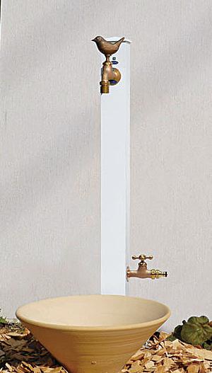 カラーアルミ立水栓 補助蛇口使用