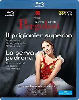 中古 ペルゴレージ:歌劇 マーケット 誇り高い囚人 幕間劇 安心の定価販売 Disc 奥様女中 Blu-ray