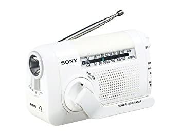 中古 SONY 新色 FM AMポータブルラジオ W ホワイト 与え ICF-B08