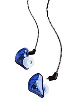 永遠の定番 中古 BASN BsingerBC100 ヘッドホン MMCX インナーイヤー型モニター用イヤホン付き 取り外し可能ケーブル ノイズキャンセリング ブルー 迅速な対応で商品をお届け致します