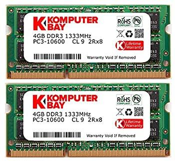 Komputerbay 8GB 1333MHz ノートPC用メモリ 204Pin SO DIMM DDR3 1333 PC3 18OP0wknX