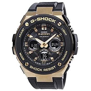 中古 カシオ G-SHOCK GST-S300G-1A9 ゴールドxブラック腕時計 メンズ お買い得 ソーラークォーツ 買物 並行輸入 G-STEEL Gスチール アナデジ