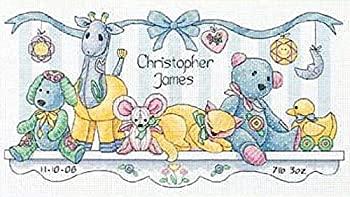 """ディメンジョンズ クロスステッチ 刺繍キット""""おもちゃの棚~ブルー"""" DIM クロスステッチキット並行輸入品EDIH29"""