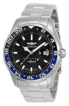 中古 春の新作続々 インビクタ 腕時計 大規模セール プロダイバー44mmステンレススチールブラックダイヤル515.24Hクォーツ 正規輸入品 シルバー 25821 メンズ