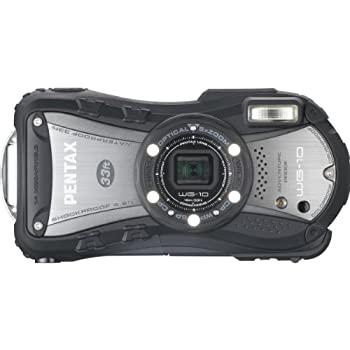 中古 PENTAX 防水デジタルカメラ WG-10 ブラック 贈物 1cmマクロ 12658 WG-10BK マクロスタンド付属 期間限定今なら送料無料