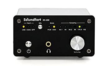 中古 2020秋冬新作 Soundfort DS-200: ハイパフォーマンスUSB DAC DSD5.6MHz対応 直営ストア 32bit 高音質ヘッドフォンアンプ搭載 192kHz 多彩なデジタル入出力