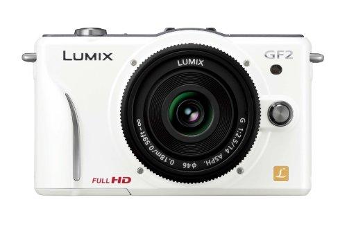 中古 パナソニック 爆安 デジタル一眼カメラ GF2 レンズキット 14mm F2.5パンケーキレンズ付属 C-W 日本製 フルハイビジョンムービー一眼 シェルホワイト DMC-GF2