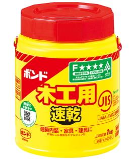 コニシ ボンド木工用速乾 1kg(ポリ缶)ケース18本入り(お取り寄せ品)