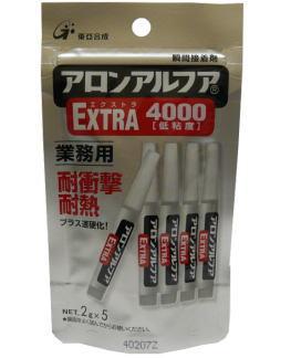東亞合成 アロンアルフアEXTRA4000 2g×5本 ケース25本入り(お取り寄せ品)