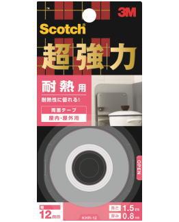 スコッチ 超強力両面テープ  3M(スリーエム) 超強力両面テープ耐熱用 (KHR-12) 12×1.5m
