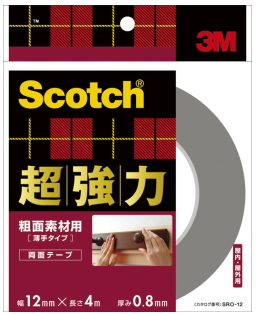 3M(スリーエム) 超強力両面テープ粗面素材用 (SRO-12) 12×4m小箱20巻入り