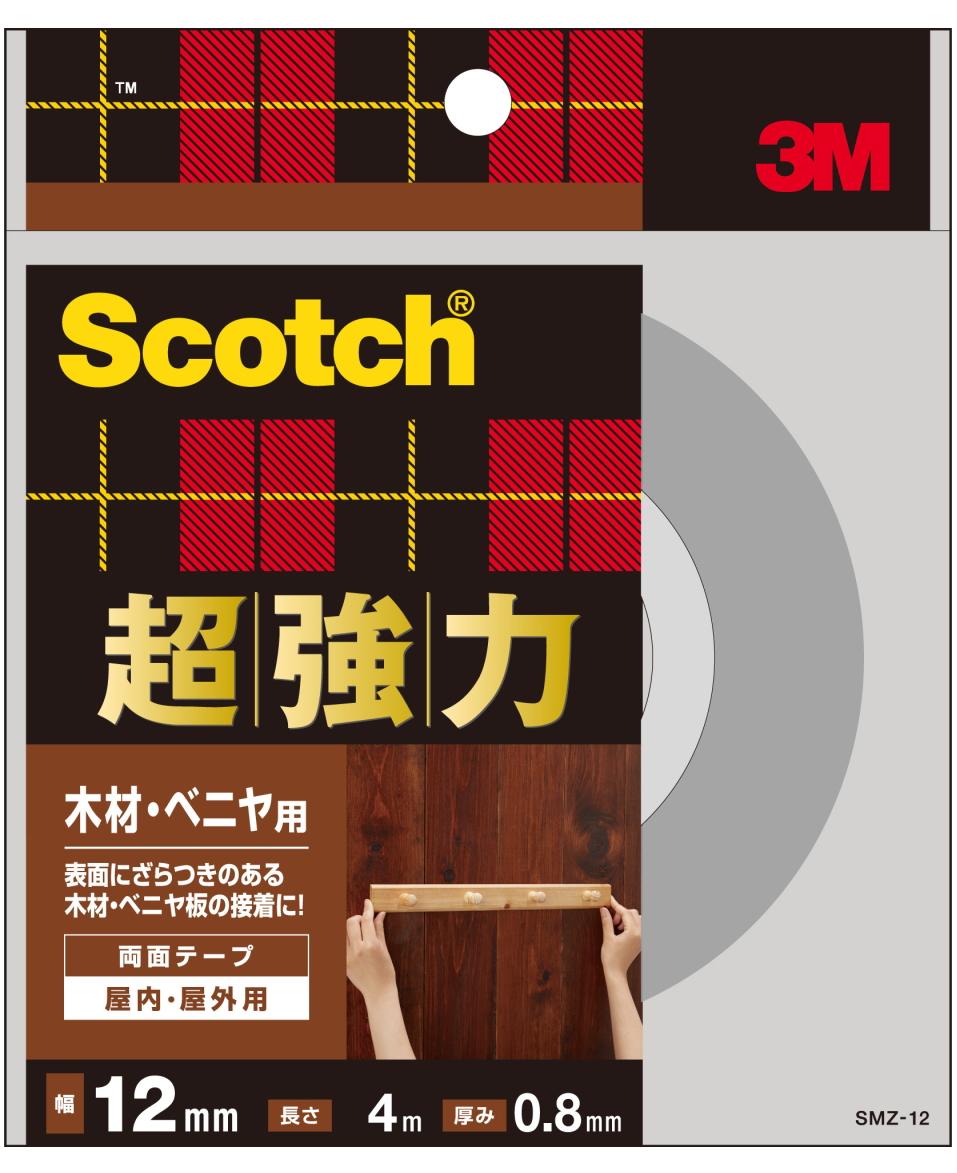 3M(スリーエム) 超強力両面テープ 木材・ベニア用(SMZ-12)小箱20個入り