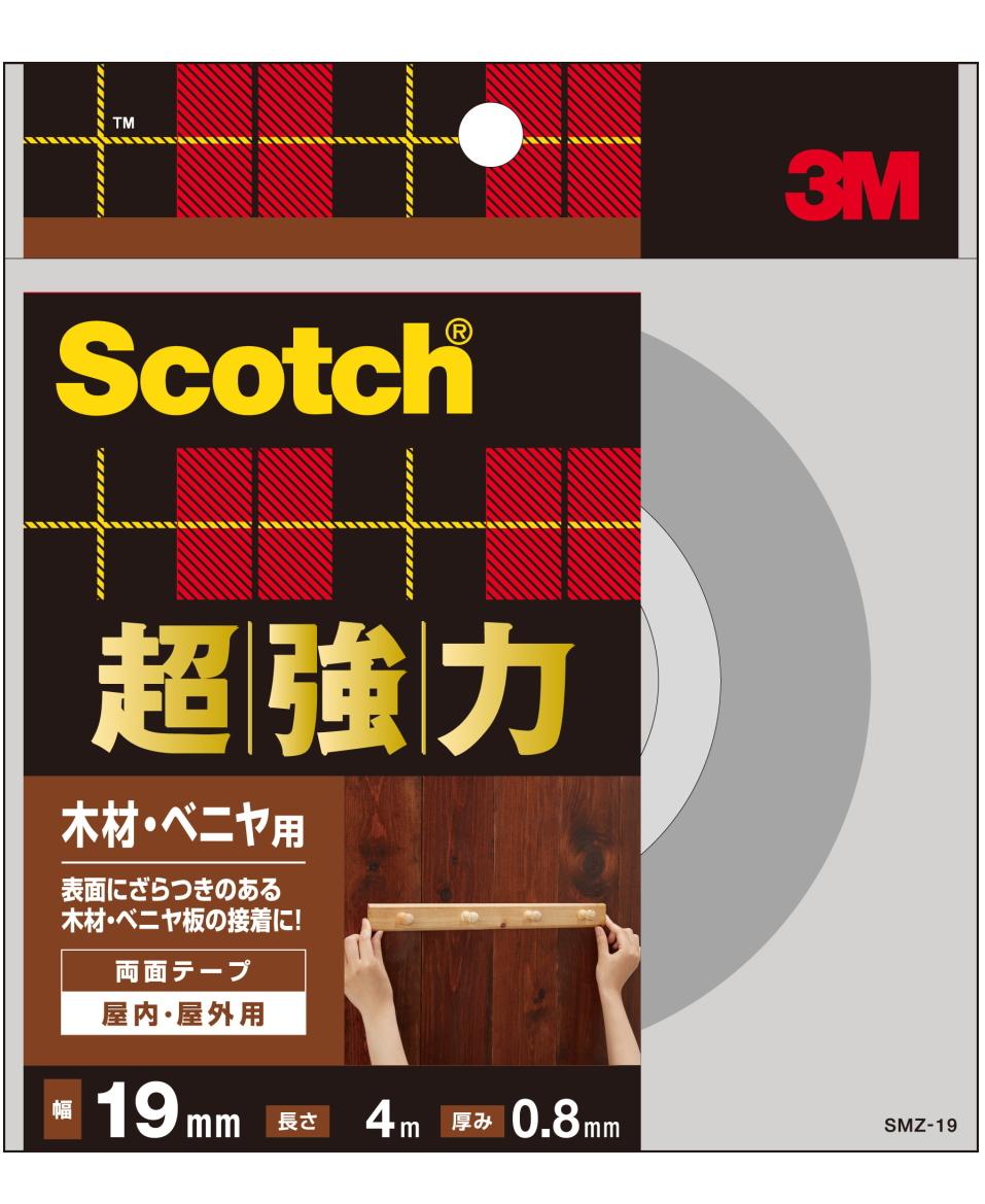 3M(スリーエム) 超強力両面テープ 木材・ベニア用(SMZ-19)小箱10個入り